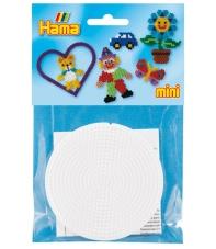 blíster 2 placas pegboards redondas  7 cm para hama beads mini