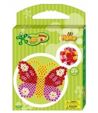 pack de inicio mariposa (350 piezas y placa pegboard) hama beads maxi