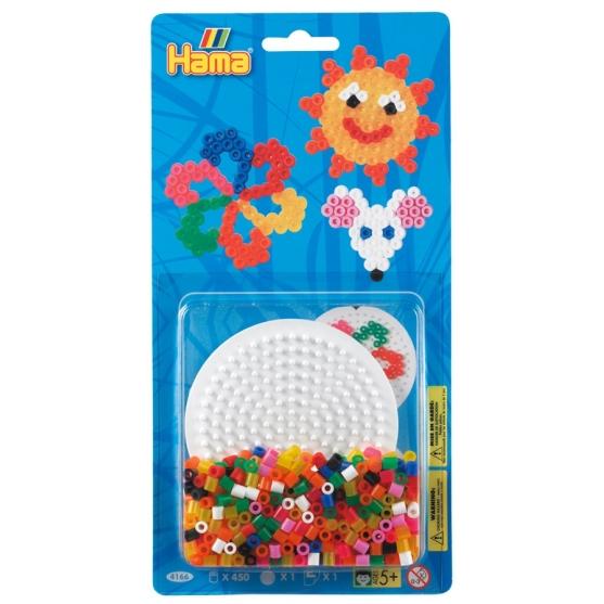blister círculo pequeño (450 piezas y 1 placa pegboard) hama beads midi