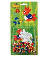 blister loro (450 piezas y 1 placa pegboard) hama beads midi