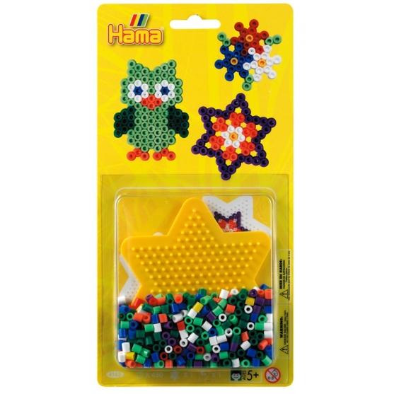 blister estrella pequeña ed. 2  (450 piezas y 1 placa pegboard) hama beads midi