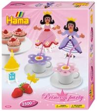 pack de inicio fiesta de princesas (2500 piezas, 6 soportes y 2 placas pegboards) hama beads midi