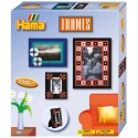 pack de inicio marcos para fotos  (2500 piezas y 2 placas pegboards) hama beads midi
