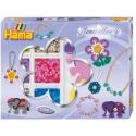 pack de inicio joyería (2400 piezas, organizador y 3 placas pegboards) hama beads midi