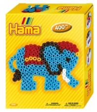 pack de inicio pequeño elefante (400 piezas y 1 placa pegboard) hama beads midi