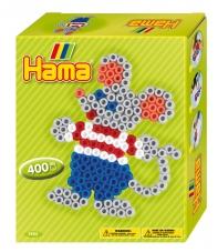 pack de inicio ratoncito (400 piezas y 1 placa pegboard) hama beads midi