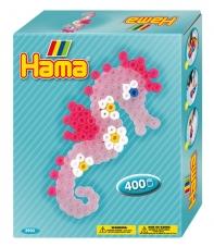 pack de inicio caballito de mar (400 piezas y 1 placa pegboard) hama beads midi