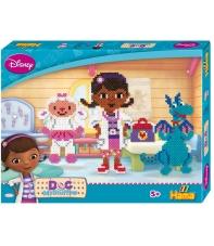 pack de inicio disney doctora juguetes (4000 piezas y 2 placas pegboards) hama beads midi