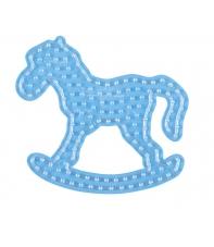 placa pegboard caballito balancín para hama beads maxi