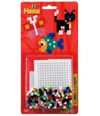 blister cuadrado pequeño  (450 piezas y 1 placa pegboard) hama beads midi