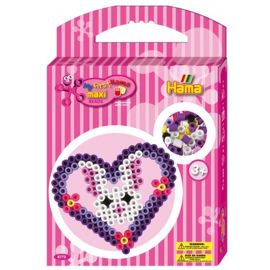 pack de inicio corazón (350 piezas y placa pegboard) hama beads maxi