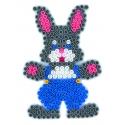 blíster 3 placas pegboards (conejo, flor y hada) para hama beads midi