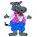 blíster 3 placas pegboards (cerdo, hipopótamo y cocodrilo) para hama beads midi