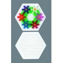 blíster 3 placas pegboards (cuadrada, redonda y hexagonal pequeñas) para hama beads midi