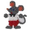 blíster 3 placas pegboards (coche, ratón y cabillo de mar pequeñas) para hama beads midi