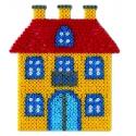 blíster 2 placas pegboards (princesa y casa) para hama beads midi