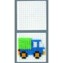placa pegboard cuadrada 7x7 cm para hama beads midi