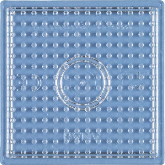 placa pegboard cuadrada trasparente 7x7 cm para hama beads midi