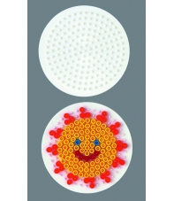placa pegboard redonda 7 cm para hama beads midi