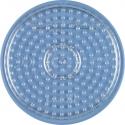 placa pegboard redonda transparente 7 cm para hama beads midi