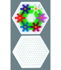 placa pegboard hexagonal 7 cm para hama beads midi