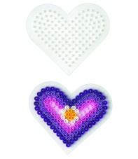 placa pegboard corazón pequeño para hama beads midi