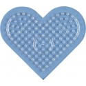 placa pegboard corazón pequeño transparente para hama beads midi