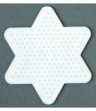 placa pegboard estrella pequeña para hama beads midi
