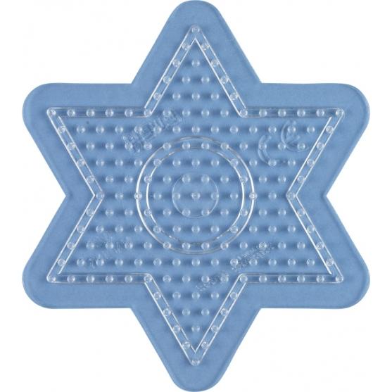 placa pegboard estrella pequeña transparente para hama beads midi