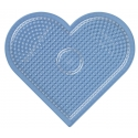 placa pegboard corazón transparente para hama beads midi