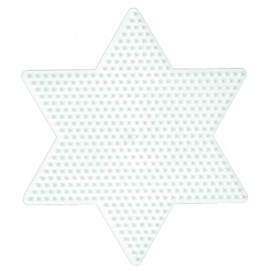placa pegboard estrella para hama beads midi