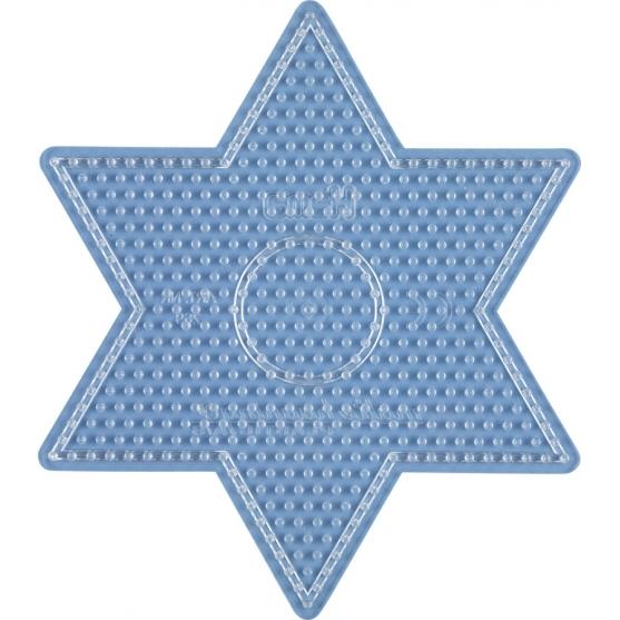 placa pegboard estrella transparente para hama beads midi