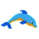 placa pegboard delfín para hama beads midi