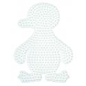 placa pegboard pingüino para hama beads midi