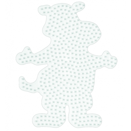 placa pegboard hipopótamo para hama beads midi