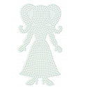 placa pegboard chica para hama beads midi