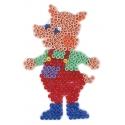 placa pegboard cerdo para hama beads midi