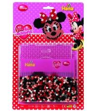 blister minnie (1100 piezas y 1 placa pegboard) hama beads midi