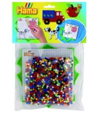 pack marco múltiple cuadrado y 1000 piezas hama beads midi