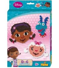 pack de inicio disney doctora juguetes (2000 piezas y 1 placas pegboards) hama beads midi