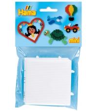 blíster 2 placas pegboards cuadradas de 7 x 7 cm conectable para hama beads mini