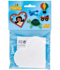 blíster 2 placas pegboards corazón para hama beads mini