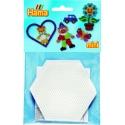 blíster 2 placas pegboards hexagonales 7 cm para hama beads mini