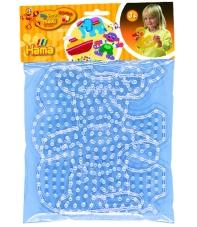 blíster 2 placas pegboards (elefante y osito) para hama beads maxi