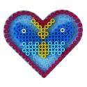 blíster 2 placas pegboards (coche y corazón) para hama beads maxi