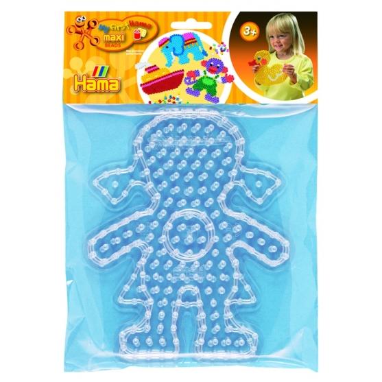 blíster 2 placas pegboards (chica y chico) para hama beads maxi