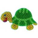 blíster 2 placas pegboards (tortuga y ballena) para hama beads maxi