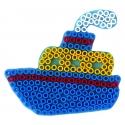 blíster 2 placas pegboards (mono y barco) para hama beads maxi