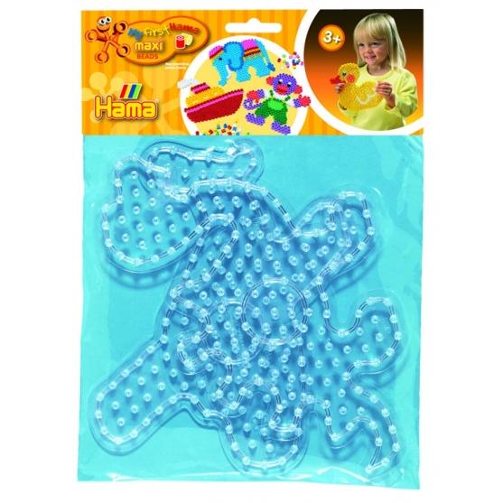 blíster 2 placas pegboards (dinosaurio y avión) para hama beads maxi