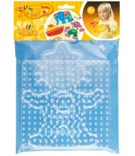 blíster 2 placas pegboards (cuadrada y payaso) para hama beads maxi